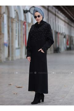 Black - Polo neck -- Tunic - Piennar(110335012)