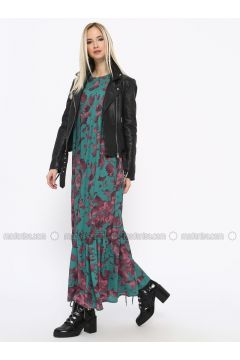 Green - Multi - Crew neck - Fully Lined - Dresses - Missemramiss(110330932)