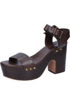 Sandales E...vee E...sandales marron cuir BY178(88522913)