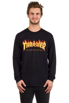Thrasher Flame Long Sleeve T-Shirt black(97765583)