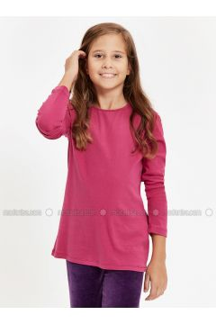 Purple - Crew neck - Age 8-12 Top Wear - LC WAIKIKI(110342303)