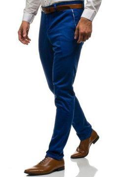 Spodnie wizytowe męskie niebieskie Denley 4326(112241553)