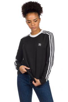 adidas Originals 3 Stripe Long Sleeve T-Shirt zwart(85184255)