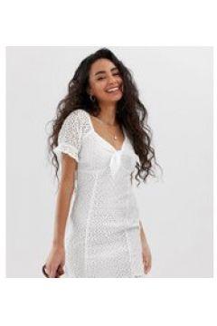 Miss Selfridge Petit - Weißes Kleid mit Lochstickerei - Weiß(86708515)