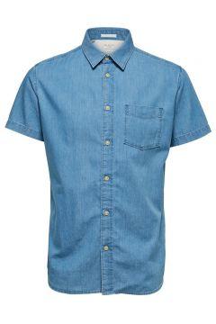 SELECTED Denim Overhemd Met Korte Mouwen Heren Blauw(113673869)