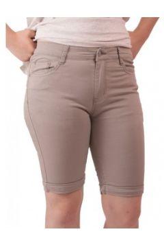 Short Primtex Bermuda en jean taille haute coton stretch léger(88679004)