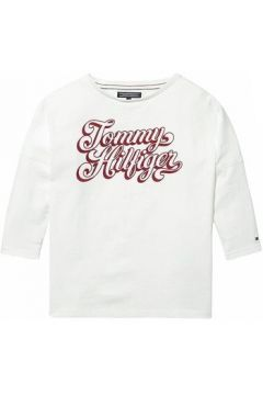 T-shirt enfant Tommy Hilfiger Kids SCROLL TOMMY TEE(115498127)