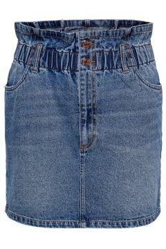 ONLY Paperbag Jupe En Jean Women Blue(111128450)