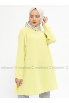 Yellow - Crew neck - Tunic - Mileny(110329349)