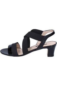 Sandales Daniele Ancarani sandales noir cuir verni textile ap898(115443196)