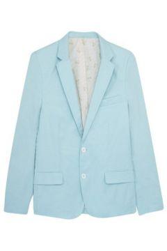 Veste Cavalier Bleu Blazer 2 pearly buttons palm trees lining Light green(115483550)