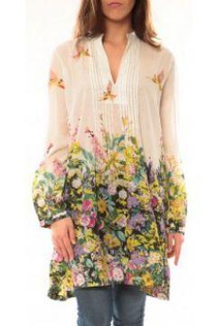 Tunique Palme Robe Canarie 49580 Blanc(115471639)