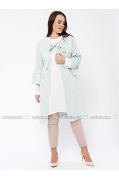 Mint - Crew neck - Unlined - Plus Size Evening Suit - Tuana(110337122)