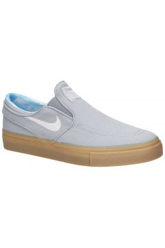 Nike Stefan Janoski PRT GS Skate Shoes wolf grey/white/gum light(97844226)