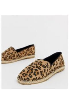 Truffle Collection - Espadrilles in weiter Passform mit Leopardenmuster - Braun(95022849)