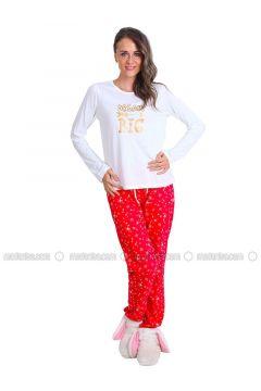 White - Crew neck - Multi - Pyjama - Meliana(110314575)