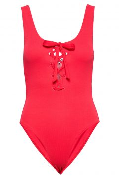 Textured Swimwear Badeanzug Bademode Rot GANNI(98321374)