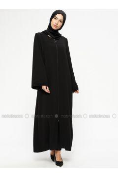 Black - Unlined - Crew neck - Abaya - MARKESRA(110314785)