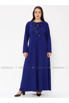 Saxe - Unlined - Crew neck - Plus Size Dress - EFE FERACE(110337654)