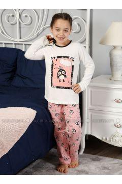 Beige - Crew neck - Multi - Kids Pijamas - Elitol Pijama(110313269)