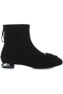 Chaussures escarpins Nicole Bonnet Bottines En Daim Noir(115461166)