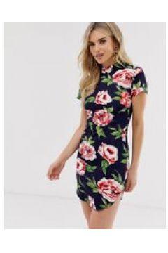 AX Paris - Figurbetontes Kleid mit Blumenprint - Navy(93139203)