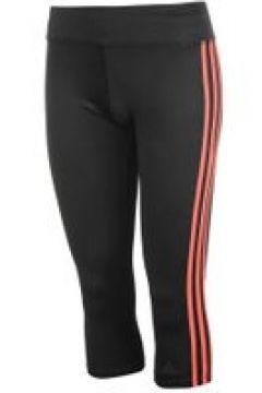 adidas 3 Stripe Three Quarter Tights Ladies - Black/CorePink(109200761)