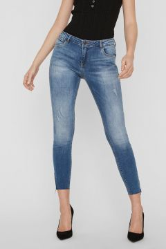 NOISY MAY Regular Waist Skinny Jeans Dames Blauw(108901898)