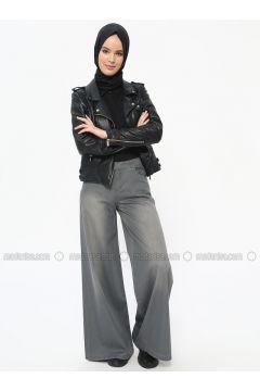 Gray - Cotton - Pants - Neways(110314252)