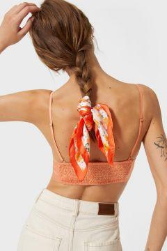 Stradivarius Bandana fleurs FEMME Orange 103(113671713)