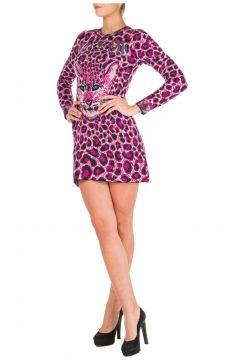 Women's short mini dress long sleeve love me wild(116935749)