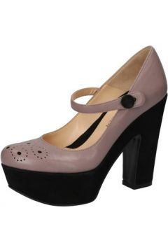 Chaussures escarpins Lella Baldi escarpins gris cuir AE916(88516741)