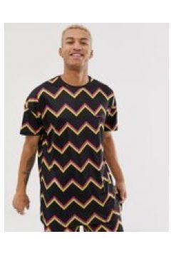 Liquor N Poker - T-Shirt mit Zickzack-Streifen(95026269)