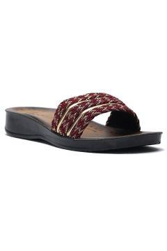 Chaussons Ayakkabı Modası Doré / Bordeaux(107233823)