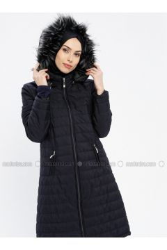 Navy Blue - Fully Lined - Polo neck - Puffer Jackets - EFE FERACE(110337662)