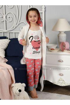 Ecru - Crew neck - Multi - Kids Pijamas - Elitol Pijama(110313271)