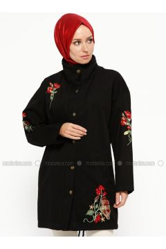 Black - Unlined - Polo neck - Trench Coat - SUEM(110315246)