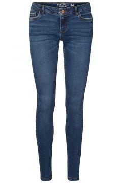 NOISY MAY Nmeve Low Waist Skinny Jeans Dames Blauw(94018173)