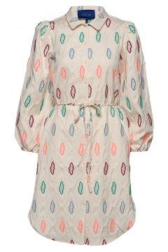 Sola Dress Kleid Knielang Creme RÉSUMÉ(108838818)
