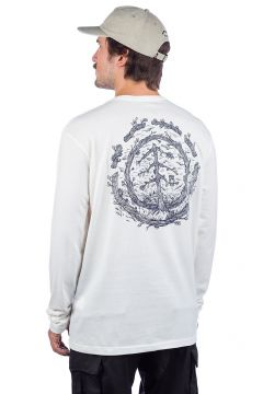 Element Too Late Logo Long Sleeve T-Shirt wit(94060788)