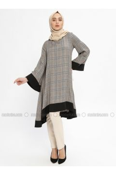 Minc - Plaid - Crew neck - Tunic - Mileny(110329348)