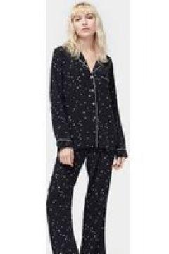UGG Raven Set Silk Pyjamas pour Femmes en Black Stars, taille Grande(112239265)