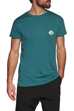 Magenta Classic Plant Kurzarm-T-Shirt - Teal(110360169)