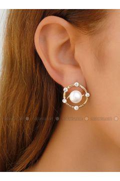 Golden tone - Earring - Takıştır Bijuteri(110326961)