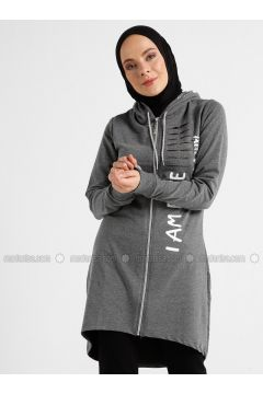 Anthracite - Multi - Tracksuit Top - Şımart(110342569)