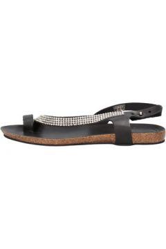 Sandales Docksteps sandales noir cuir strass AG856(88469652)
