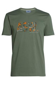 """Ahorn - T-Shirt \""""ASW camouflage\"""" Frontprint - oliv - 7XL(92062121)"""