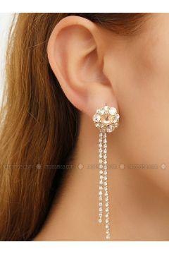 Golden tone - Earring - Takıştır Bijuteri(110326963)