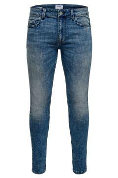 ONLY & SONS Onswarp Blå Tvättade Skinny Fit-jeans Man Blå(114365966)