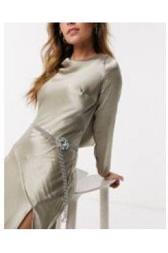 True Decadence - Cintura a maglie argento con fibbia di cristalli(112355022)